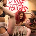 Divine bitches Lotus Lain Daisy Ducati and Chanell Heart demand foot and pussy worship with strap-on anal bang slave boy