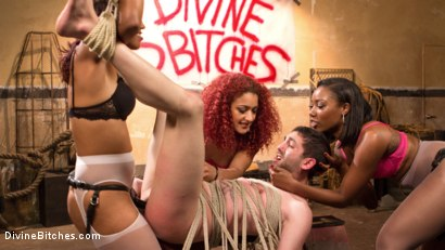 Photo number 9 from Three The Hard Way shot for Divine Bitches on Kink.com. Featuring Jay Wimp, Daisy Ducati, Lotus Lain and Chanell Heart in hardcore BDSM & Fetish porn.
