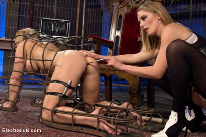 Photo number 12 from Carissa Montgomery Shocked, Topped and Electrofucked by Mona Wales shot for Electro Sluts on Kink.com. Featuring Mona Wales and Carissa Montgomery in hardcore BDSM & Fetish porn.
