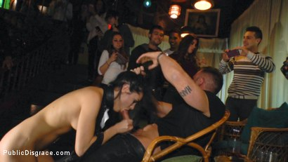 Photo number 8 from Perky Carolina Abril is Ravaged and Shamed in Crowded Bar shot for Public Disgrace on Kink.com. Featuring Carolina Abril, Emilio Ardana and Satrina in hardcore BDSM & Fetish porn.