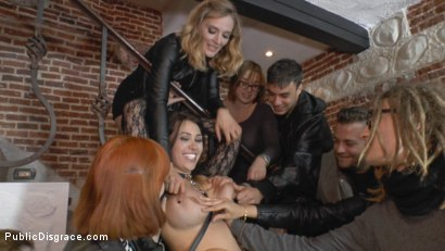 Photo number 12 from Busty Klara Gold Fucked Hard Outdoors!!! shot for Public Disgrace on Kink.com. Featuring Mona Wales, Xavi Tralla and Klara Gold in hardcore BDSM & Fetish porn.