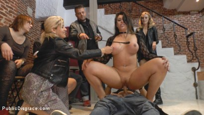 Photo number 15 from Busty Klara Gold Fucked Hard Outdoors!!! shot for Public Disgrace on Kink.com. Featuring Mona Wales, Xavi Tralla and Klara Gold in hardcore BDSM & Fetish porn.