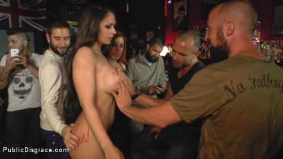 Photo number 15 from Big Tit Spanish Supermodel Bound & Dragged Through Madrid City Center shot for Public Disgrace on Kink.com. Featuring Mona Wales, Marta La Croft and Xavi Tralla in hardcore BDSM & Fetish porn.