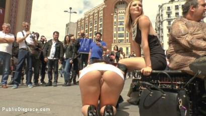 Photo number 8 from Big Tit Spanish Supermodel Bound & Dragged Through Madrid City Center shot for Public Disgrace on Kink.com. Featuring Mona Wales, Marta La Croft and Xavi Tralla in hardcore BDSM & Fetish porn.