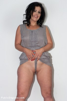 Photo number 2 from Cheating Wife's Big Hot Ass Shamed Fully Naked In Public Display shot for Public Disgrace on Kink.com. Featuring Mona Wales, Montse Swinger and Xavi Tralla in hardcore BDSM & Fetish porn.