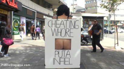 Photo number 11 from Cheating Wife's Big Hot Ass Shamed Fully Naked In Public Display shot for Public Disgrace on Kink.com. Featuring Mona Wales, Montse Swinger and Xavi Tralla in hardcore BDSM & Fetish porn.