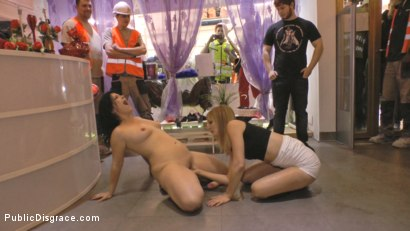 Photo number 17 from Cheating Wife's Big Hot Ass Shamed Fully Naked In Public Display shot for Public Disgrace on Kink.com. Featuring Mona Wales, Montse Swinger and Xavi Tralla in hardcore BDSM & Fetish porn.