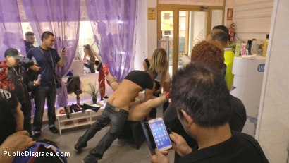 Photo number 22 from Cheating Wife's Big Hot Ass Shamed Fully Naked In Public Display shot for Public Disgrace on Kink.com. Featuring Mona Wales, Montse Swinger and Xavi Tralla in hardcore BDSM & Fetish porn.