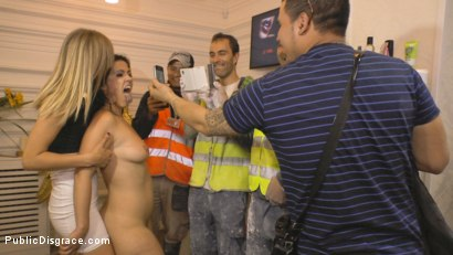Photo number 24 from Cheating Wife's Big Hot Ass Shamed Fully Naked In Public Display shot for Public Disgrace on Kink.com. Featuring Mona Wales, Montse Swinger and Xavi Tralla in hardcore BDSM & Fetish porn.