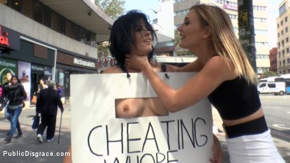 Photo number 7 from Cheating Wife's Big Hot Ass Shamed Fully Naked In Public Display shot for Public Disgrace on Kink.com. Featuring Mona Wales, Montse Swinger and Xavi Tralla in hardcore BDSM & Fetish porn.