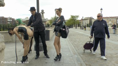 Photo number 15 from Two Slutty Whores Disgraced in Spanish Extreme Public Orgy! shot for Public Disgrace on Kink.com. Featuring Steve Holmes, Mona Wales, Satrina, Xavi Tralla and Lola in hardcore BDSM & Fetish porn.