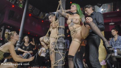 Photo number 20 from Two Slutty Whores Disgraced in Spanish Extreme Public Orgy! shot for Public Disgrace on Kink.com. Featuring Steve Holmes, Mona Wales, Satrina, Xavi Tralla and Lola in hardcore BDSM & Fetish porn.
