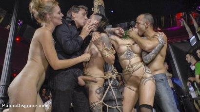 Hard Beautiful disgrace orgy would