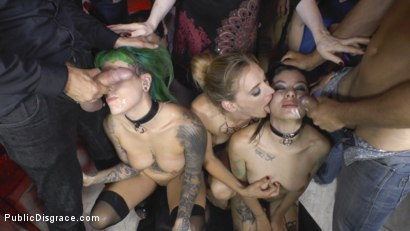 Photo number 23 from Two Slutty Whores Disgraced in Spanish Extreme Public Orgy! shot for Public Disgrace on Kink.com. Featuring Steve Holmes, Mona Wales, Satrina, Xavi Tralla and Lola in hardcore BDSM & Fetish porn.