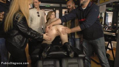 Photo number 11 from Church Whore Gets Fucked in the Ass and Covered in Trash!!! shot for Public Disgrace on Kink.com. Featuring Mona Wales, Xavi Tralla and Brenda Boop in hardcore BDSM & Fetish porn.