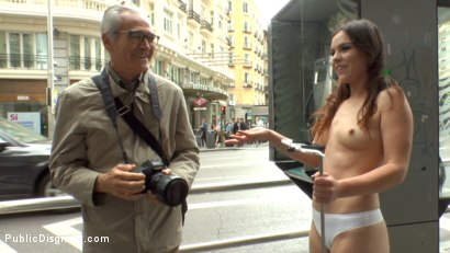 Photo number 2 from Slutty American Tourist Publicly Disgraces Herself!!! shot for Public Disgrace on Kink.com. Featuring Mona Wales, Juliette March and Xavi Tralla in hardcore BDSM & Fetish porn.