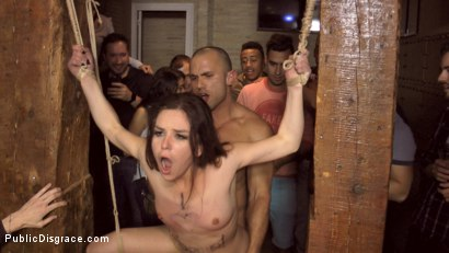 Photo number 23 from Slutty American Tourist Publicly Disgraces Herself!!! shot for Public Disgrace on Kink.com. Featuring Mona Wales, Juliette March and Xavi Tralla in hardcore BDSM & Fetish porn.