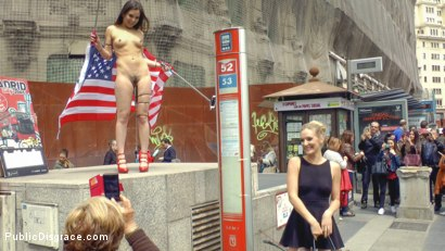 Slutty American Tourist Publicly Disgraces Herself!!!