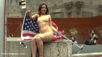 Photo number 4 from Slutty American Tourist Publicly Disgraces Herself!!! shot for Public Disgrace on Kink.com. Featuring Mona Wales, Juliette March and Xavi Tralla in hardcore BDSM & Fetish porn.