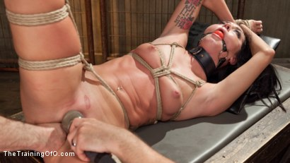 Photo number 14 from Position of Punishment and Reward: 19 Year Old Sabrina Banks Day Two shot for The Training Of O on Kink.com. Featuring Sabrina Banks and John Strong in hardcore BDSM & Fetish porn.
