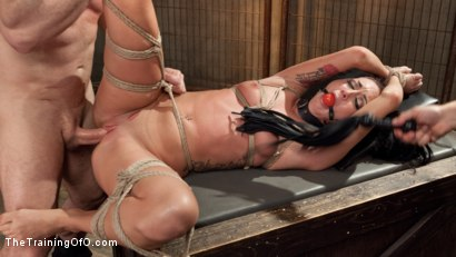 Photo number 15 from Position of Punishment and Reward: 19 Year Old Sabrina Banks Day Two shot for The Training Of O on Kink.com. Featuring Sabrina Banks and John Strong in hardcore BDSM & Fetish porn.