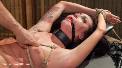 Photo number 13 from Position of Punishment and Reward: 19 Year Old Sabrina Banks Day Two shot for The Training Of O on Kink.com. Featuring Sabrina Banks and John Strong in hardcore BDSM & Fetish porn.