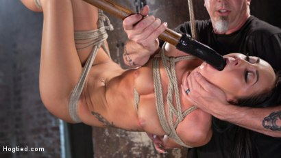 Photo number 8 from Sabrina Banks Used and Abused in Hardcore Bondage shot for Hogtied on Kink.com. Featuring Sabrina Banks in hardcore BDSM & Fetish porn.