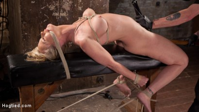 Photo number 5 from MILF Masochist in Tight Bondage shot for Hogtied on Kink.com. Featuring Simone Sonay in hardcore BDSM & Fetish porn.