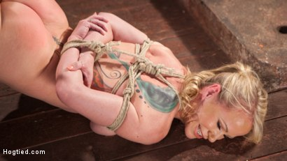Photo number 3 from MILF Masochist in Tight Bondage shot for Hogtied on Kink.com. Featuring Simone Sonay in hardcore BDSM & Fetish porn.