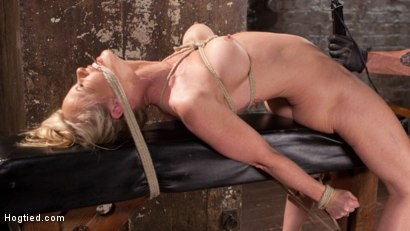 Photo number 6 from MILF Masochist in Tight Bondage shot for Hogtied on Kink.com. Featuring Simone Sonay in hardcore BDSM & Fetish porn.