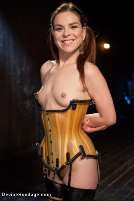 Photo number 2 from Whore Bound in a Euphoria of Depravity shot for Device Bondage on Kink.com. Featuring Juliette March in hardcore BDSM & Fetish porn.