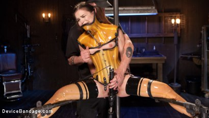 Photo number 12 from Whore Bound in a Euphoria of Depravity shot for Device Bondage on Kink.com. Featuring Juliette March in hardcore BDSM & Fetish porn.