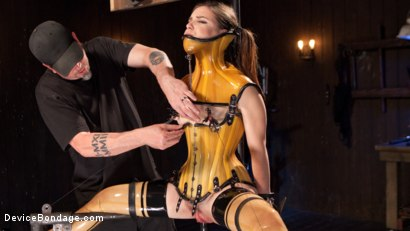 Photo number 7 from Whore Bound in a Euphoria of Depravity shot for Device Bondage on Kink.com. Featuring Juliette March in hardcore BDSM & Fetish porn.
