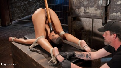 Photo number 3 from Penthouse Pet, Skin Diamond, in Devastating Bondage  shot for Hogtied on Kink.com. Featuring Skin Diamond and The Pope in hardcore BDSM & Fetish porn.