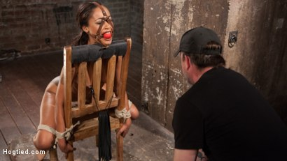 Photo number 6 from Penthouse Pet, Skin Diamond, in Devastating Bondage  shot for Hogtied on Kink.com. Featuring Skin Diamond and The Pope in hardcore BDSM & Fetish porn.