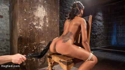 Photo number 5 from Penthouse Pet, Skin Diamond, in Devastating Bondage  shot for Hogtied on Kink.com. Featuring Skin Diamond and The Pope in hardcore BDSM & Fetish porn.