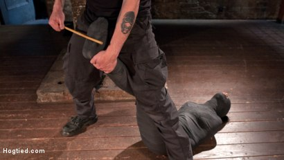 Photo number 10 from Penthouse Pet, Skin Diamond, in Devastating Bondage  shot for Hogtied on Kink.com. Featuring Skin Diamond and The Pope in hardcore BDSM & Fetish porn.