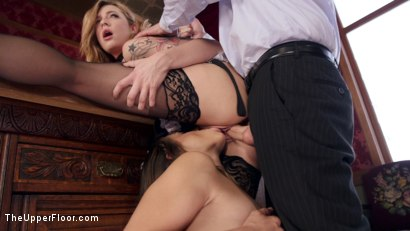 Photo number 9 from The Nympho Maid Dreams of Anal Ravaging shot for The Upper Floor on Kink.com. Featuring Cassidy Klein, John Strong and Dahlia Sky in hardcore BDSM & Fetish porn.