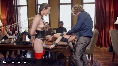 Photo number 2 from A Cruel Protocol shot for The Upper Floor on Kink.com. Featuring Casey Calvert , Cadence Lux and Michael Vegas in hardcore BDSM & Fetish porn.