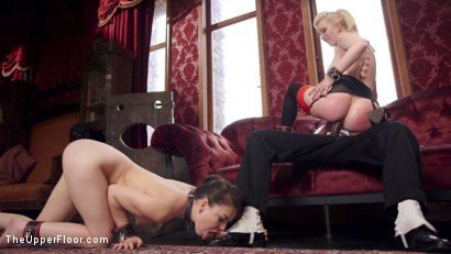 Photo number 12 from Alpha Sex Slave Returns to Train Anal Rookie shot for The Upper Floor on Kink.com. Featuring Cherry Torn, Mickey Mod and Juliette March in hardcore BDSM & Fetish porn.