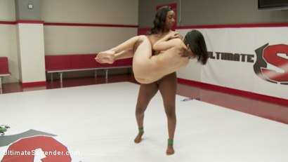 Photo number 13 from Big strong Ebony Girl wrestles Romanian Hottie! Winner Fucks Loser shot for Ultimate Surrender on Kink.com. Featuring Lisa Tiffian and Lea Lexis in hardcore BDSM & Fetish porn.