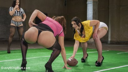 Photo number 2 from Sexy Lingerie Football Team mates get some Anal Training from Coach shot for Everything Butt on Kink.com. Featuring Lea Lexis, Fallon West and Penny Barber in hardcore BDSM & Fetish porn.