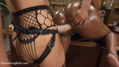 Photo number 7 from Gorgeous Ebony Beauty with an Anal Addiction gets unorthodox treatment shot for Everything Butt on Kink.com. Featuring Lisa Tiffian and Francesca Le in hardcore BDSM & Fetish porn.