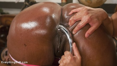 Photo number 4 from Gorgeous Ebony Beauty with an Anal Addiction gets unorthodox treatment shot for Everything Butt on Kink.com. Featuring Lisa Tiffian and Francesca Le in hardcore BDSM & Fetish porn.
