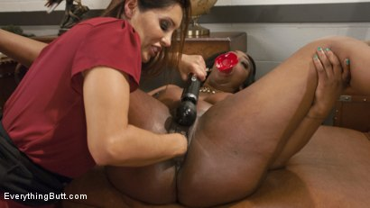 Photo number 6 from Gorgeous Ebony Beauty with an Anal Addiction gets unorthodox treatment shot for Everything Butt on Kink.com. Featuring Lisa Tiffian and Francesca Le in hardcore BDSM & Fetish porn.