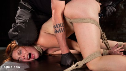 Photo number 16 from Sexy Spanish Slut Bound with Pain, Hot Wax and Orgasms!!! shot for Hogtied on Kink.com. Featuring Amarna Miller in hardcore BDSM & Fetish porn.