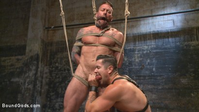 Photo number 7 from Muscled leather hunk at the mercy of Mr. Ducati shot for Bound Gods on Kink.com. Featuring Trenton Ducati and Hugh Hunter in hardcore BDSM & Fetish porn.