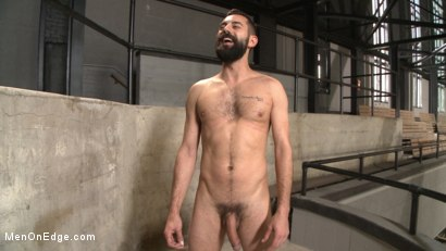 Photo number 15 from First timer with a giant cock gets suspended and edged above the drill court shot for Men On Edge on Kink.com. Featuring Dean Brody in hardcore BDSM & Fetish porn.