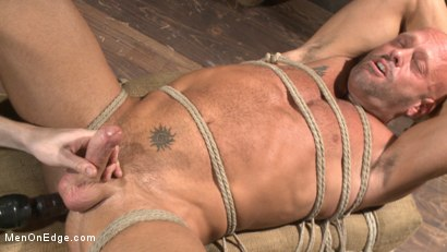 Photo number 12 from Hot cowboy tied up for the first time and shoots a load onto his face! shot for Men On Edge on Kink.com. Featuring Coby Mitchell in hardcore BDSM & Fetish porn.