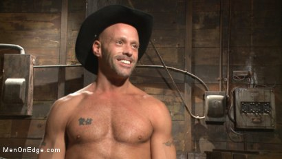 Photo number 15 from Hot cowboy tied up for the first time and shoots a load onto his face! shot for Men On Edge on Kink.com. Featuring Coby Mitchell in hardcore BDSM & Fetish porn.